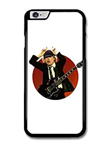 """AMAF ? Accessories ACDC Angus Young Illustration with Guitar Showing Horns case for iPhone 6 Plus (5.5"""")"""