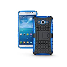 Galaxy Grand Prime Case, NOKEA [Kickstand] [Drop Protection] [Shock Reduction] [Anti-Skidding] [Heavy Duty Protection ] Premium Bumper Case for Samsung Galaxy Grand Prime G530 (Blue)