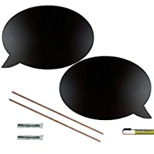 Cohas Chalkboard Speech Bubbles includes Liquid Chalk Marker, 1 Left and Right Hand Pair, Large Talk Bubble Shape
