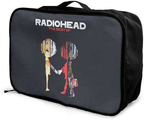 アレンジケース レディオヘッド 旅行用トロリーバッグ 旅行用サブバッグ 軽量 ポータブル荷物バッグ 衣類収納ケース キャリーオンバッグ 旅行圧縮バッグ キャリーケース 固定 出張パッキング 大容量 トラベルバッグ ボストンバッグ