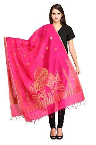 AKSARA Women's Banarasi Banarasi Dupatta(DA302 Pink Free Size) Chunnis & Dupattas at amazon