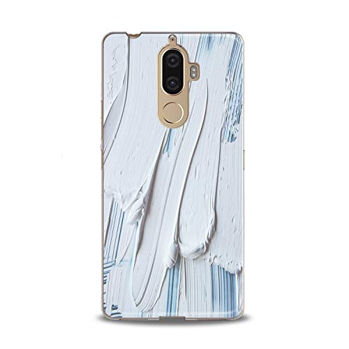 Lex Altern TPU Case for Lenovo Phone K8 Note K6 Note 2017 K5 Plus Z5 Gouache Gift Print Phone Lux Clear Lightweight Cover Cute Design Woman Smooth Soft Flexible Slim fit Women Pattern Kawaii White