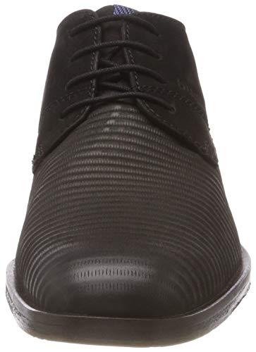 Zapatos 3 De Negro Hombre Para Derby 1000 schwarz Cordones 11 Bugatti 11528e qf4xwdtqH