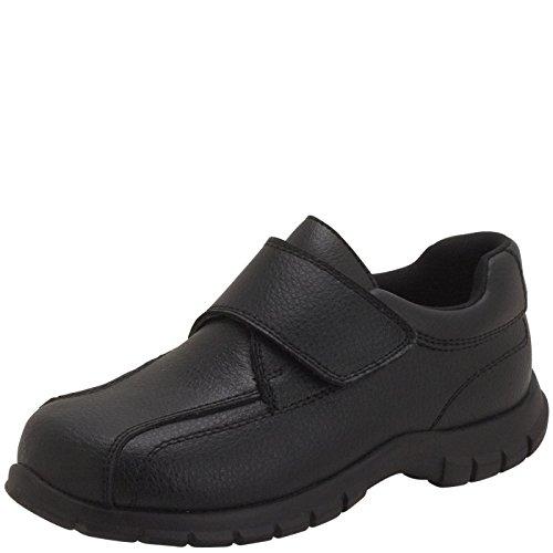 SmartFit Black Boys' Leather Monk Strap Casual 4 Regular -