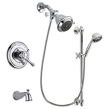Delta Cassidy Chrome Finish Dual Control Tub and Shower