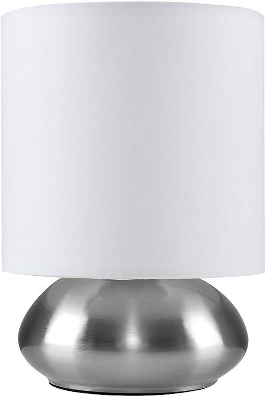 MiniSun – Moderna lámpara de mesa táctil - Base cromada de forma ...