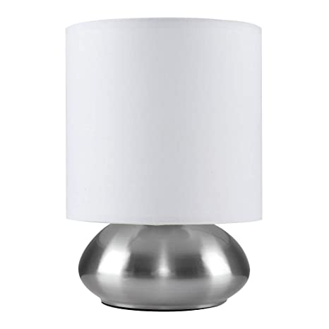 MiniSun – Elegante lámpara de mesa táctil Ayme - Moderna con pantalla blanca