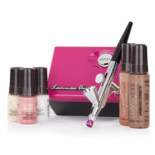 Luminess Air Pink & Black Legend Airbrush System With 5 P...