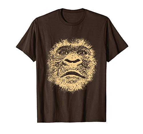 Chimpanzee Face Shirt Funny Gift for Chimp Fan Gorilla Lover