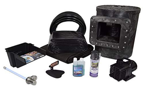 Half Off Ponds PVCX8SUV3 - Compact Savio Hybrid PVC Pond Kit w/ 18-Watt UVinex System, 8' x 10' PolyGuard Pond Liner, 2,100 GPH Pump, 8