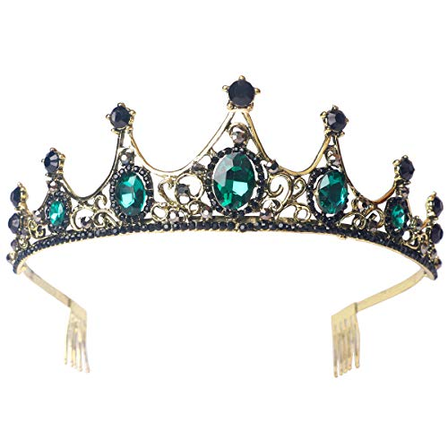 (Sppry Women Tiara with Comb - Vintage Crystal Crown for Bridal Queen Girls at Wedding Birthday Pageant)