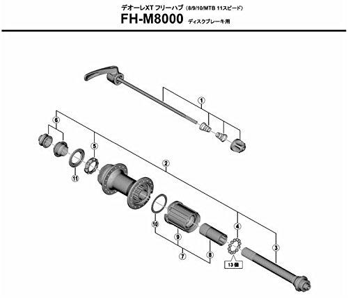 Shimano FH-M785 Cono Buje Trasero Gris Talla /Única