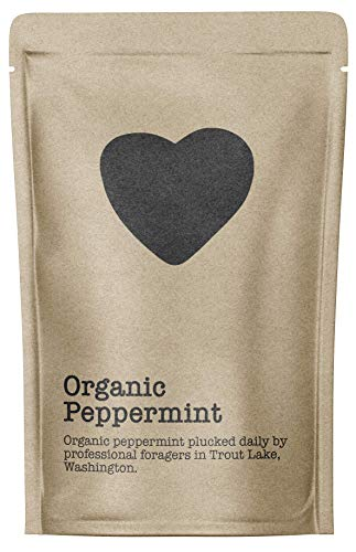 (Organic Peppermint, 15-20 Servings, Eco-Conscious Zip Pouch, Caffeine Free, Pure Loose Leaf Tea Grown in America)