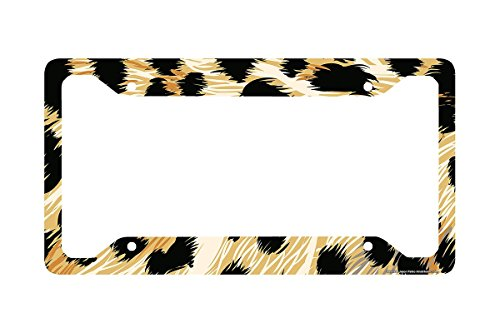 Airstrike Cheetah License Plate Frame, Cheetah Car Tag Frame, Cheetah License Plate Holder, Cute Cheetah Print License Plate Frame-30-272 (Cheetah Print License Plate)