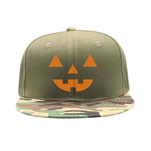 Men Women Camouflage Flat Golf Cap Lightweight Lantern Pumpkin Halloween ()