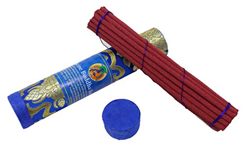 Tibetan Incense Sticks ~ Hand Rolled Medicine Buddha Incense Made from Organic Himalayan Herbs for Healing (Medicine Buddha) (Sticks Incense Buddha)