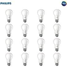 Philips LED Non-Dimmable A19 Frosted Light Bulb: 450-Lumen, 5000-Kelvin, 5-Watt (40-Watt Equivalent), E26 Base, Daylight, 16-Pack