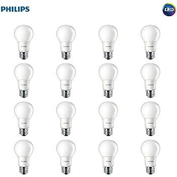 Philips LED Non-Dimmable A19 Frosted Light Bulb: 450-Lumen, 2700-Kelvin, 6.5-Watt (40-Watt Equivalent), E26 Medium Screw Base, Soft White, 16-Pack