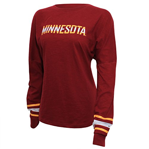 NCAA Minnesota Golden Gophers Women's Campus Specialties Long Sleeve Fan Tee, XX-Large, Maroon