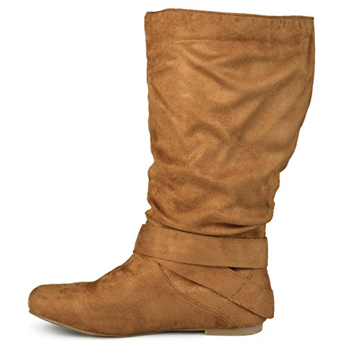 Calf and Wide Slouch Journee Collection Boot Womens Chestnut Calf Regular Mid Buckle Sized wqxFvBIX