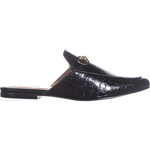 Zigi Black Womens Toe Leather Soho Mallary Croc Almond Mules TA1qTr