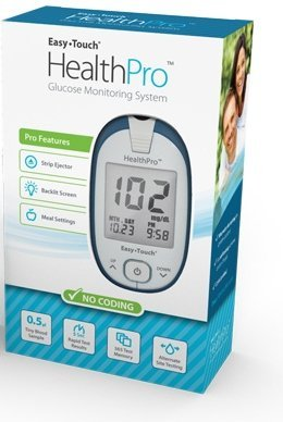 HealthPro Glucose Monitoring Meter with Lancing Device & 10