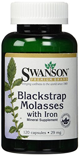 Price comparison product image Blackstrap Molasses with Iron 29mg (Two Bottles each of 120 Capsules)