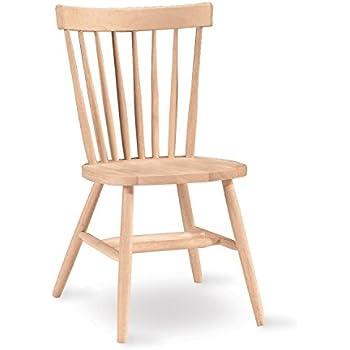 Delightful International Concepts 1C 285 Copenhagen Chair, Unfinished