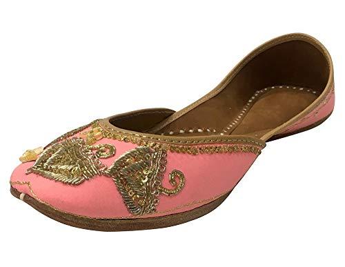 Flat Dance Baley N Step Jutti Shoes Punjabi Indian Khussa Designer Ethnic Style Wear 0SS8qH1P