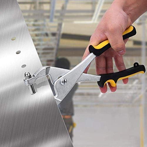 SSY-YU メタルシート、工芸、カードの金属ホールパンチャーヘビーデューティ3.27ミリメートル単穴パンチャープライヤー多機能グリットパンチプライヤー ペンチ 切断工具