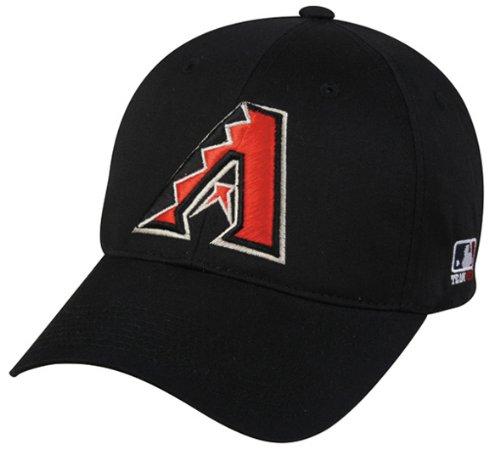 Arizona Diamondbacks (Black) ADULT Adjustable Hat MLB Officially Licensed Major League Baseball Replica Ball Cap