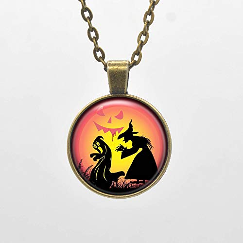 (Wicked Witch Necklace Charm Scary Halloween Witches Inspired Pendant Personalized Jewelry Child)