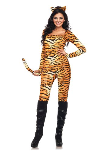 Women's Wild Tigress Catsuit Costume