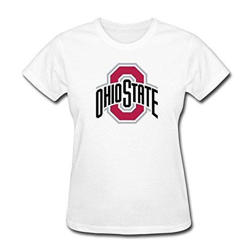 Womens Custom Printed Blank T-shirt/The Ohio State University White