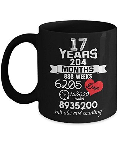 Anniversary Gift 17th - 17 years Wedding Marriage mug ideas