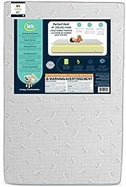 Serta Perfect Rest 4-inch Premium Recycled Fiber Core Mini Crib Mattress, Waterproof, Hypoallergenic, GREENGUA