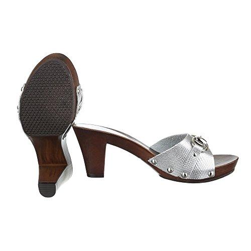Ital-Design - zapatillas de baile (jazz y contemporáneo) Mujer plata