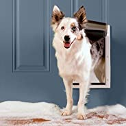 PetSafe Extreme Weather Energy Efficient Pet Door, Unique Three Flap System, White, for Medium Dogs Up to 18 k