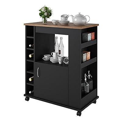 Kitchen Cart Storage Mobility Beverage Home