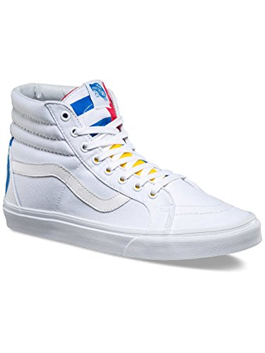 7eab57e1b469 Galleon - VANS MENS SK8 HI REISSUE 1966 SHOES TRUE WHITE BLUE RED SIZE 5.5