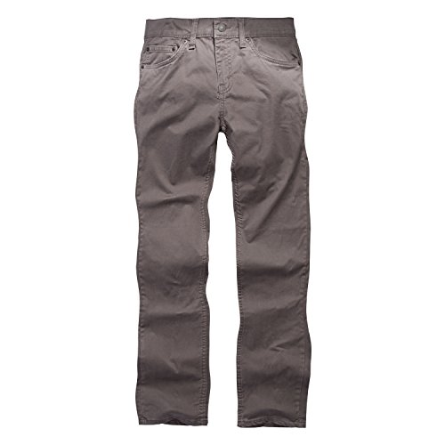Levi's Boys' Big 511 Slim Fit Soft Brushed Pants, Dark Gull Grey, 10 (Boys Levis Size 10)