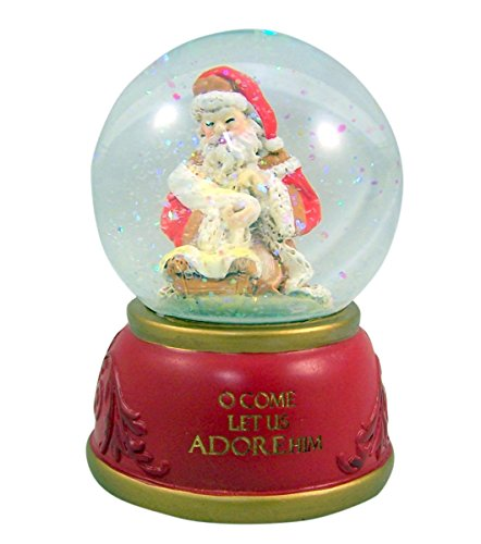 Gifts Of Faith Musical Christmas Snow Globe, O Come All Ye Faithful by CB Gift (Image #2)