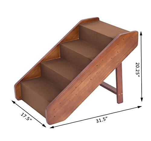 PawHut 4-Step Indoor Folding Wooden Pet Stairs by PawHut (Image #4)