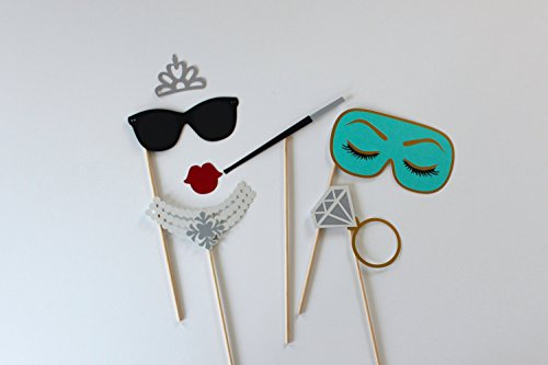 7 Wedding Bachelorette Photo Booth Prop Collection (Breakfast For Kitchens Booths)