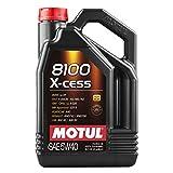 Motul 007250 8100 X-Cess 5W-40 Aceite sintético para Motor de Gasolina y diésel, Jarra de 5 litros
