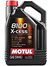 MOTUL 7250 Aceite para Motor 8100 X-Cess 5W40 5 litros, 5 Liters (169.07 Ounces)