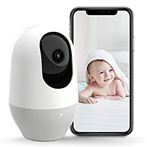 Flashandfocus.com 41-ZpkEnJAL._SS300_ Nooie Baby Monitor, WiFi Pet Camera Indoor, 360-degree Wireless IP Camera, 1080P Home Security Camera, Motion Tracking…