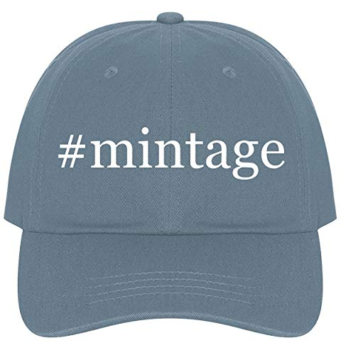 The Town Butler #Mintage - A Nice Comfortable Adjustable Hashtag Dad Hat Cap, Light Blue