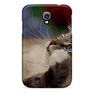 High Quality Shock Absorbing Case For Galaxy S4-relaxing Cat