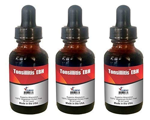 Tonsillitis EBH- Swollen Tonsils Pain Relief Protocol (30 ml 1 Bottle) by Vitalee Nanomed